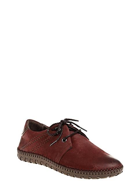 Hammer Jack %100 Deri Bağcıklı Ayakkabı Bordo